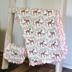 Fawn Blanket and Burp Cloth Gift Set - Carli's Closet