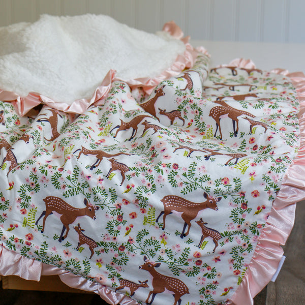 Mama and Baby Deer Blanket - Carli's Closet