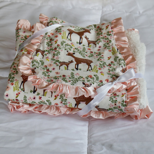 Fawn Blanket and Burp Cloth Baby Shower Gift Set - Carli's Closet