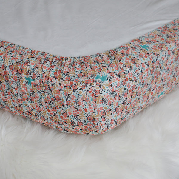 Floral Meadow Fitted Crib Sheet - Carli's Closet