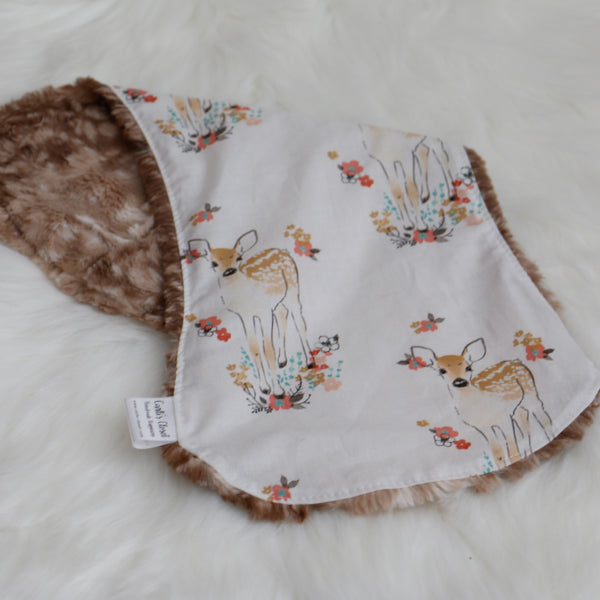 Floral Fawn  Burp Cloth for Baby Shower Carli's Closet