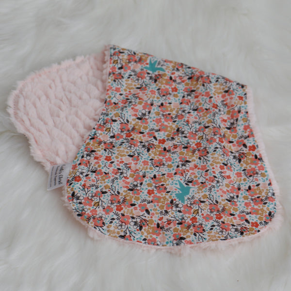 Floral Meadow Baby Burp Cloth Carli's Closet