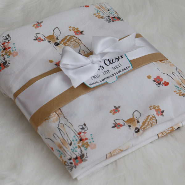 Woodland Animal Fitted Crib Sheet - Carli's Closet