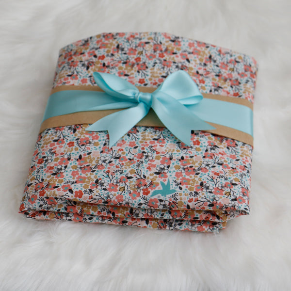 Floral Meadow Fitted Crib Sheet Baby Shower Gift - Carli's Closet