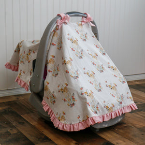 Floral Fawn Car Seat Cover - Carli's Closet