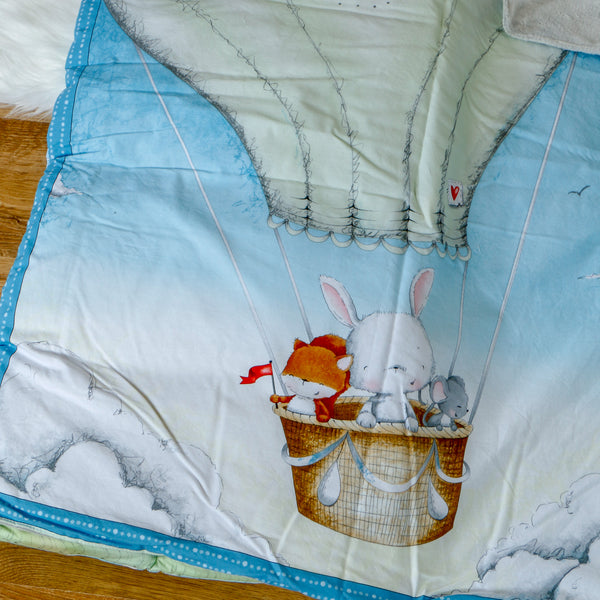 Hot Air Balloon Nap Mat Roll Up