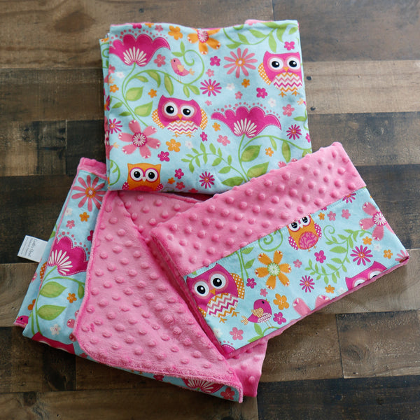 Owl Nap Mat Cover Set with Blanket and Pillow Carli's Closet