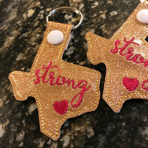 Texas Strong Key Ring - Carli's Closet