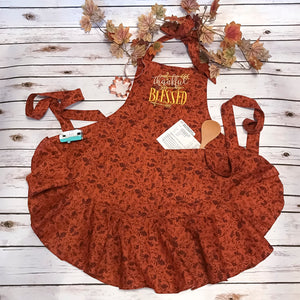 Thanksgiving apron for women handmade by Carli's Closet