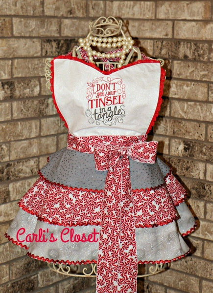Christmas  Apron  Don't Get Your Tinsel in a Tangle - Carli's Closet