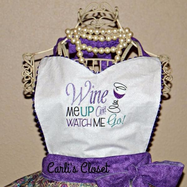 Wine Me Up Apron - Carli's Closet