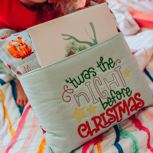 Night Before Christmas Book Pillow