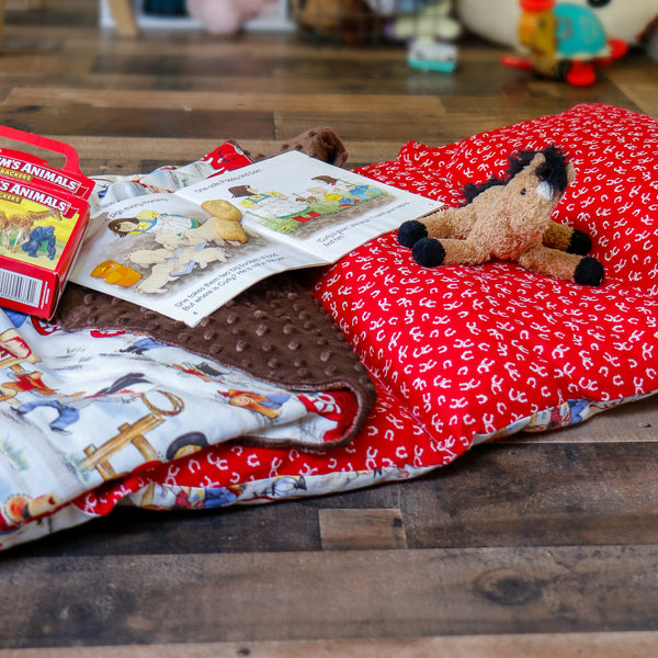 Cowboy Western Nap Mat Roll Up - Carli's Closet