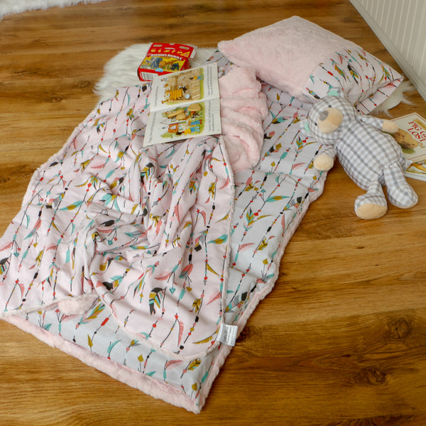 Toddler nap mat with blanket and pillow handmade by Carli's Closet