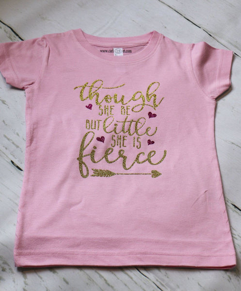 Though She Be But Little She Is Fierce Onesie - Carli's Closet