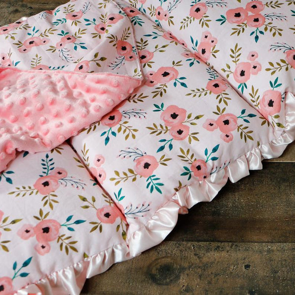 Watercolor Floral Roll Up Nap Mat