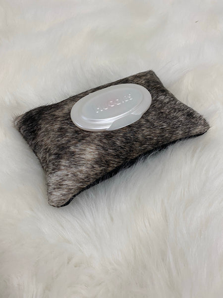Cowhide Diaper Wipe Holder