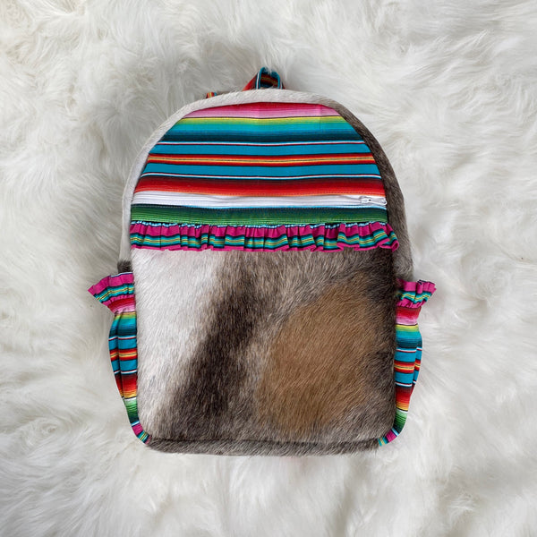Serape Cowhide Backpack