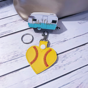 Softball Key Ring - Carli's Closet