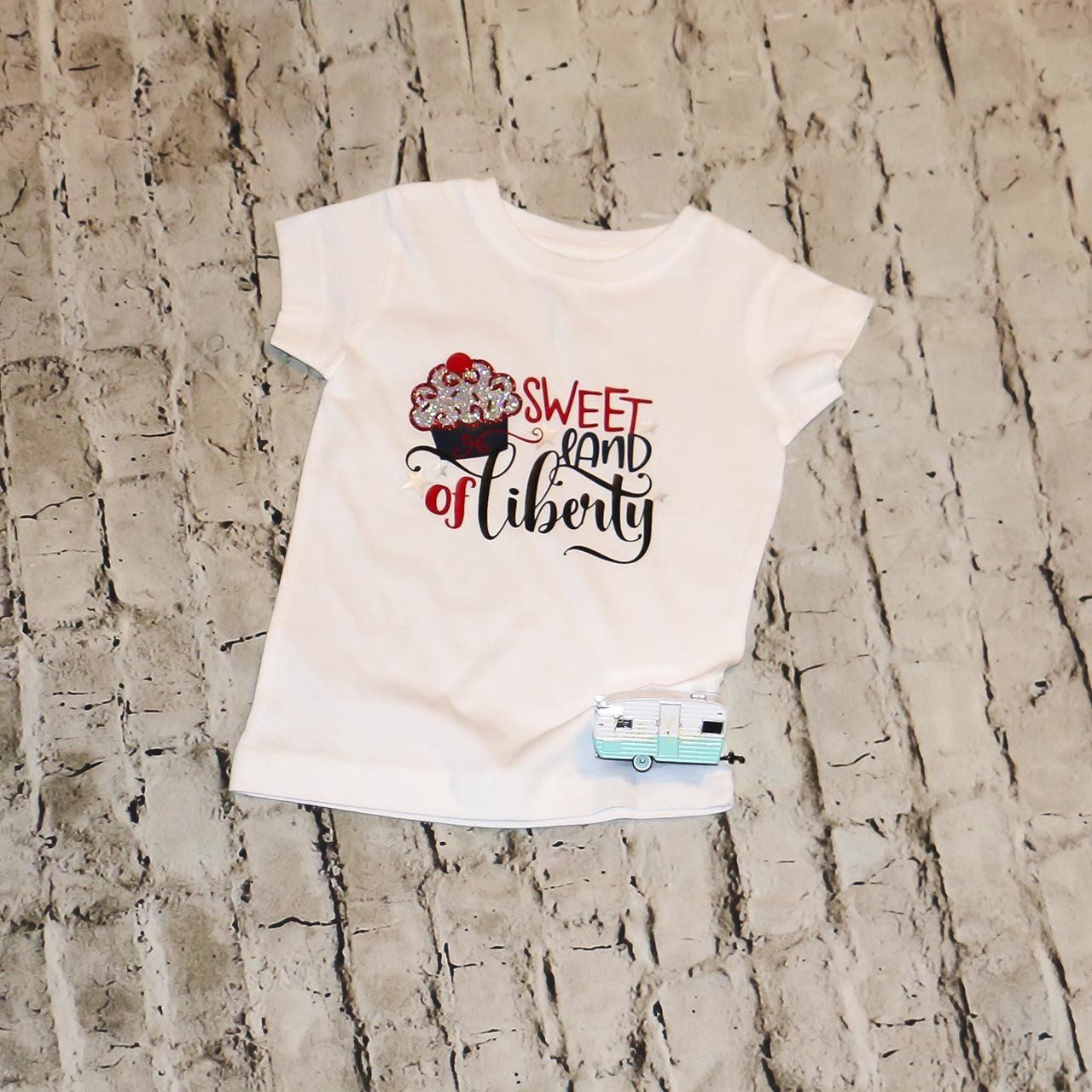 Sweet Land of Liberty Girls Shirt