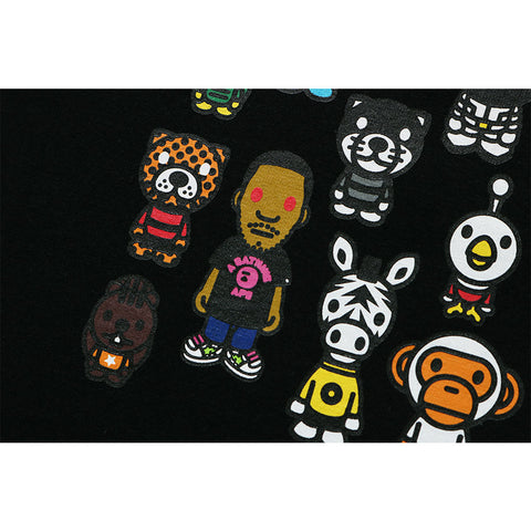 BAPE® X KID CUDI BABY MILO FRIENDS BLACK TEE