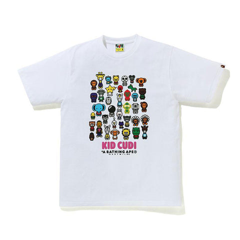 BAPE® X KID CUDI BABY MILO FRIENDS WHITE TEE