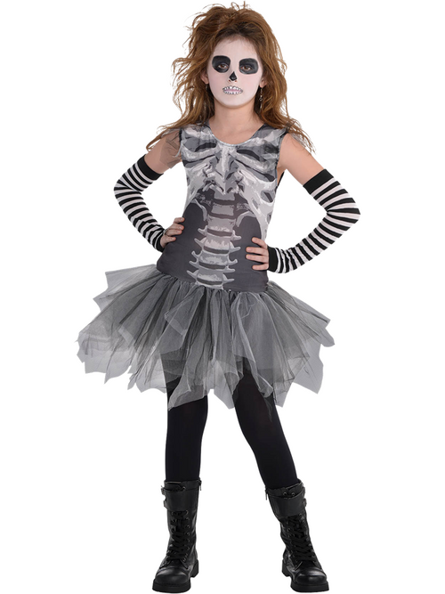 Black and Bone Dress - Child Costume