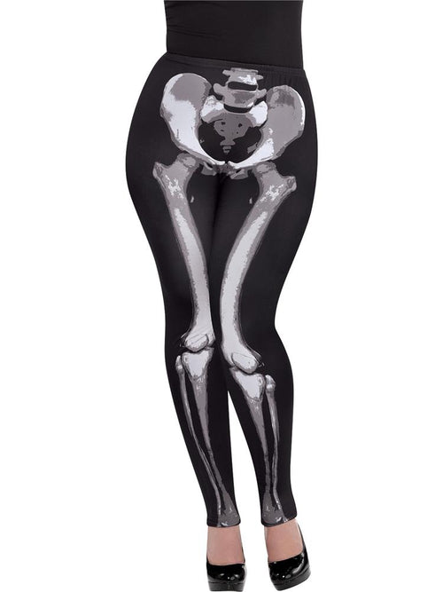 Black and Bone Leggings - Costume