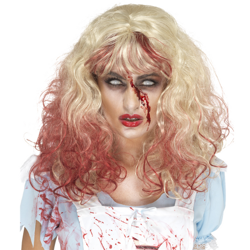 Blonde Bloody Zombie Wig - Women's Halloween Wig