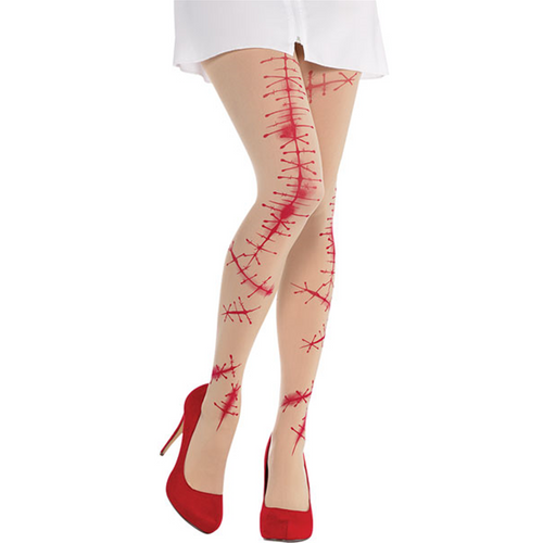Bloody Stitches Tights - Women's Halloween tights - One Size
