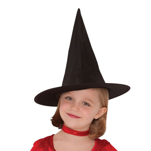 Classic Witches Hat - Girl's Halloween Hat - 28cm tall