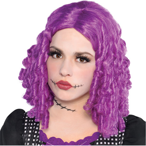 Damaged Doll Wig - Women's Purple Halloween Wig