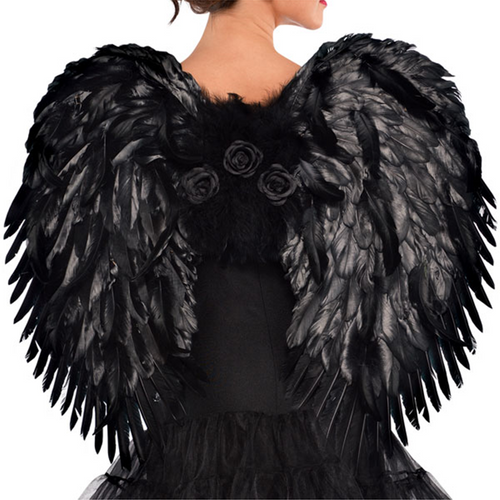 Dark Angel Deluxe Feather Wings - Halloween Prop
