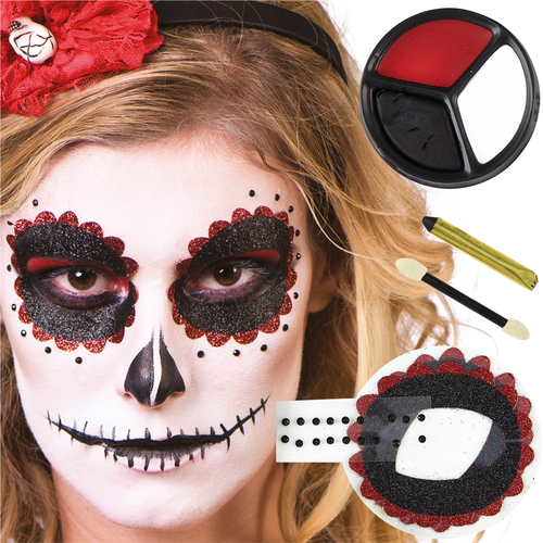 Day Of The Dead Face Paint Kit