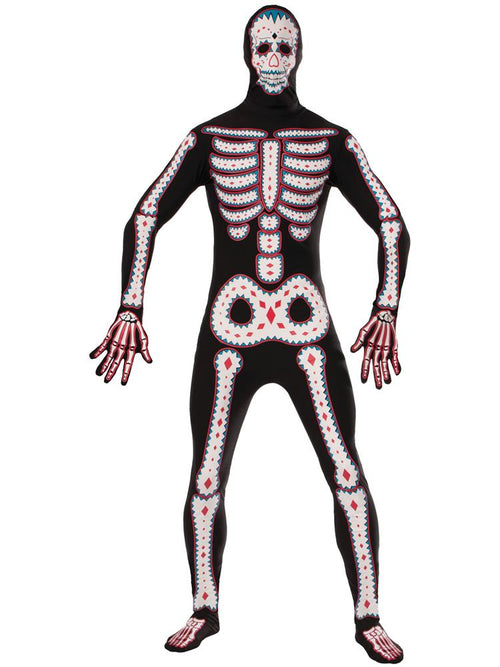 Day of the Dead Bodysuit - Adult Costume