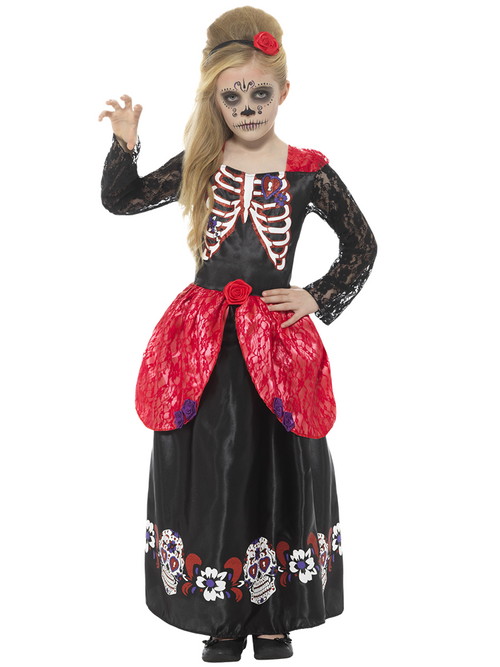 Deluxe Day of the Dead Girl - Child Costume