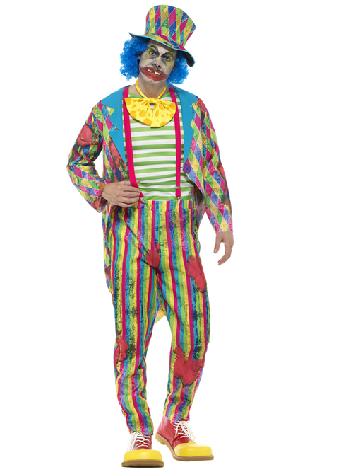 Deluxe Patchwork Clown - Costume