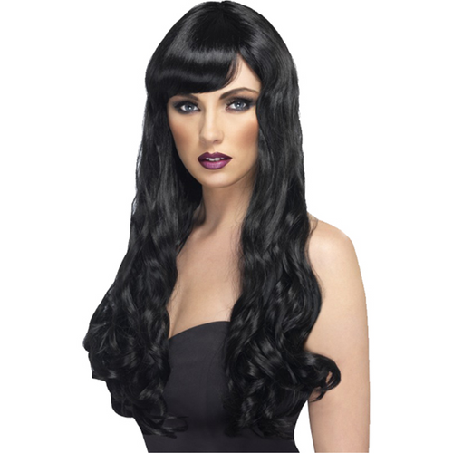 Desire Long Curly Black Wig