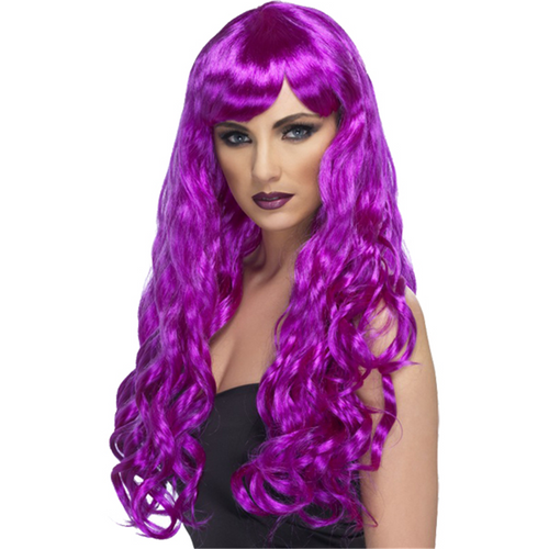 Desire Long Curly Wig - Purple