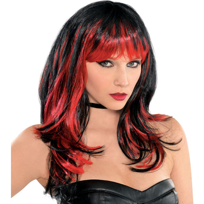 Enchantress Wig - Women's Black & Red Halloween Wig