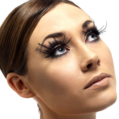Eyelashes - Black Plume Feathers