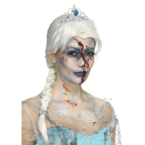 Frozen to Death Zombie Wig - Women's Blonde Elsa Halloween Wig