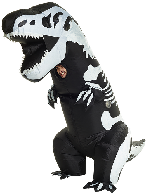 Giant Inflatable T-Rex Skeleton - Adult Costume