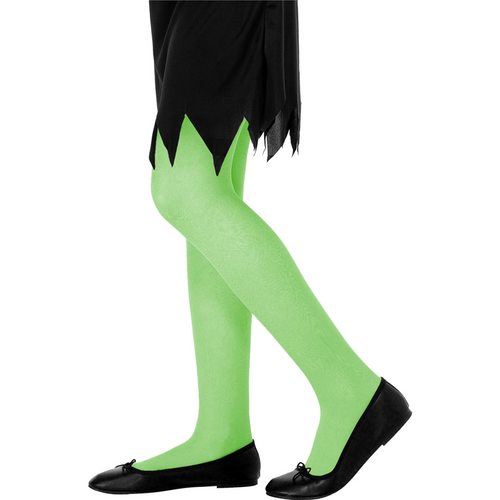 Green Tights - Girl's Halloween Tights