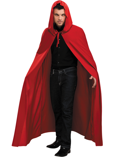 Hooded Red Cape - Costume