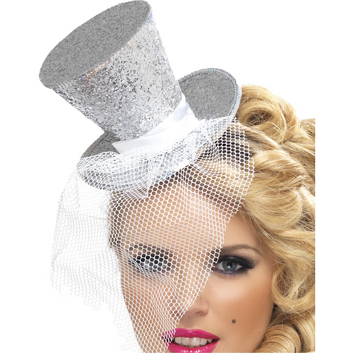 Mini Diamond Silver Top Hat