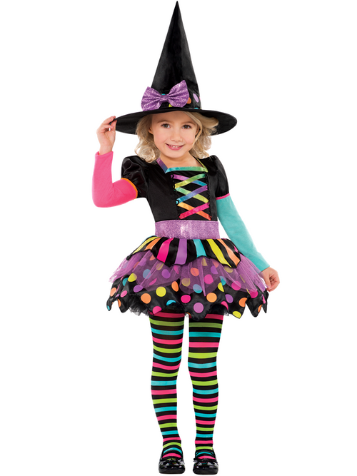 Miss Matched Witch - Toddler & Child Costume