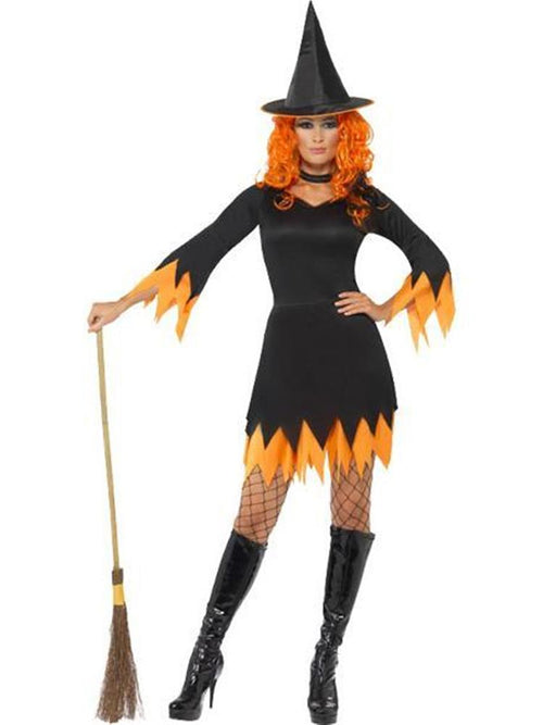 Orange Witch - Adult Costume