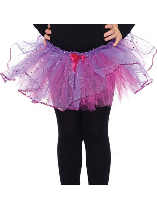 Purple and Fuchsia Glitter Tutu - Child Costume