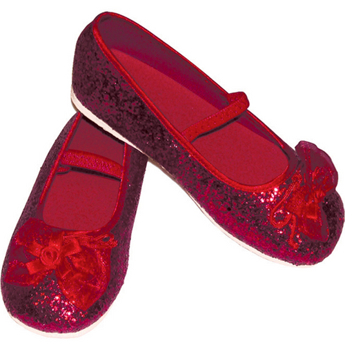 Red Glitter Party Shoes